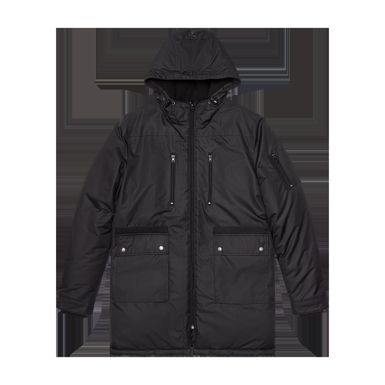 Black coat product photo