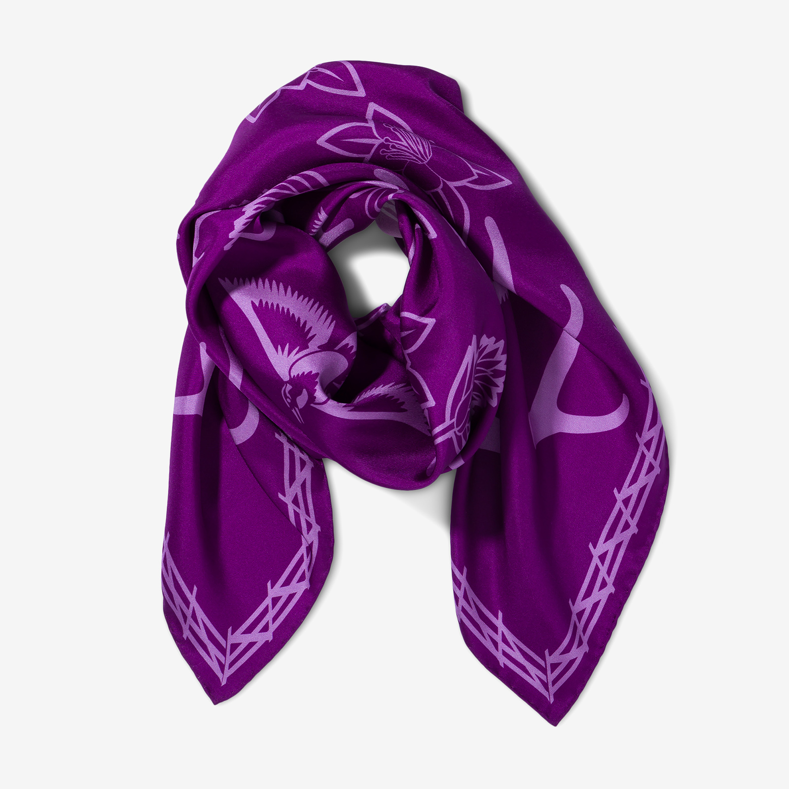 Purple scarf product picture