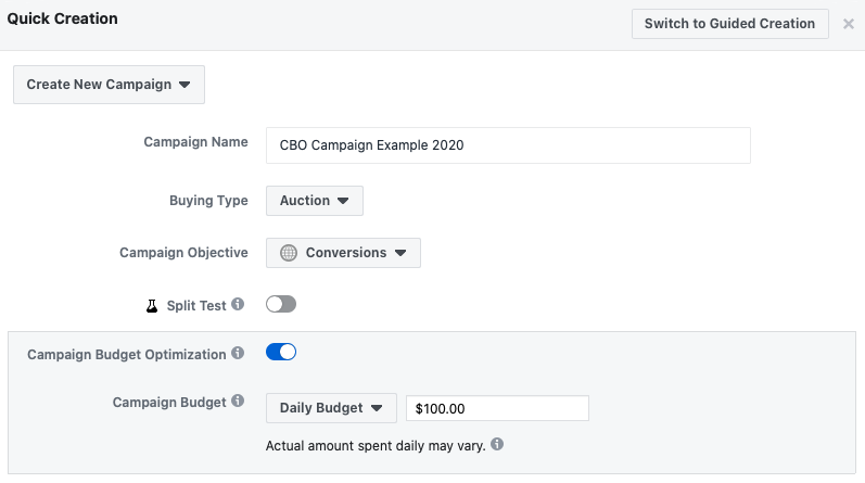 create a facebook ads campaign