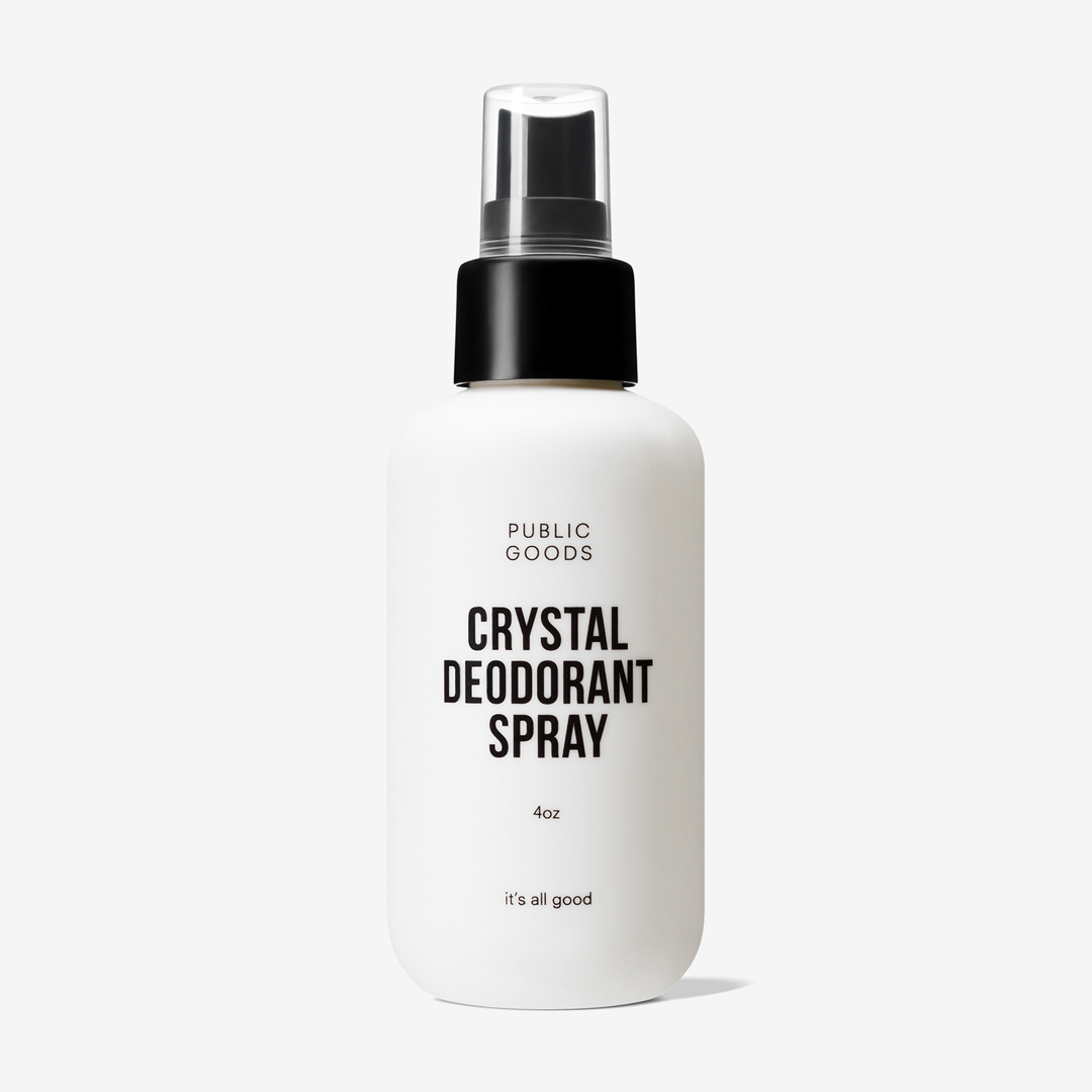 Public goods crystal deodorant spray