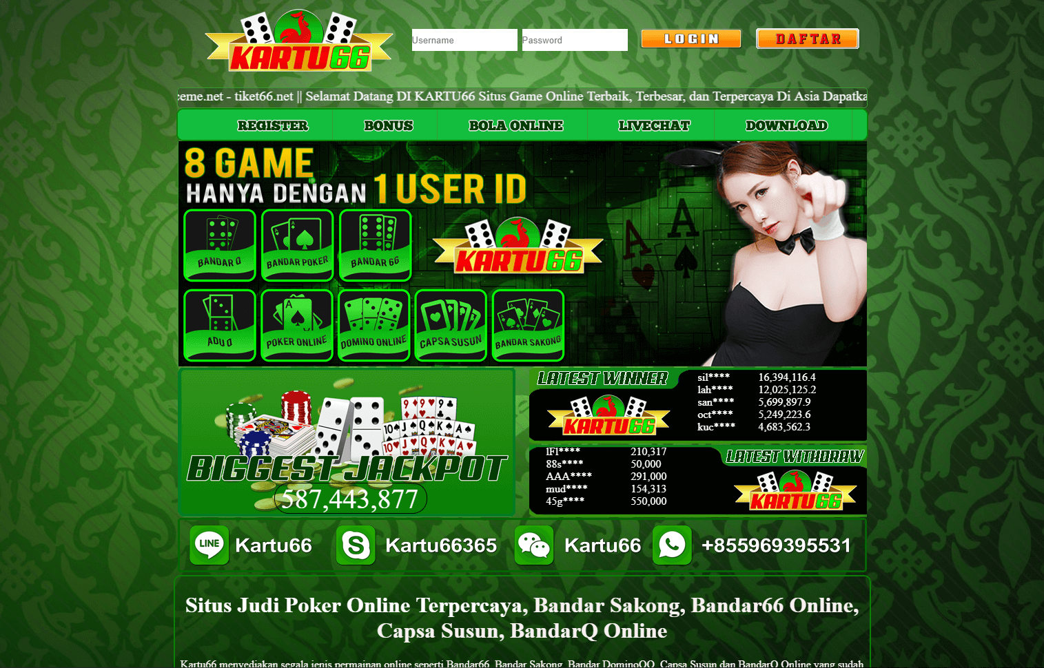 Kiu Kiu Uang Asli Situs Judi Qq Online Populer Terbaru