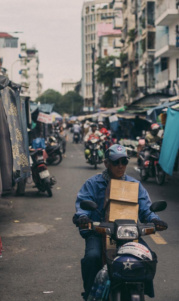 Ho Chi Minh city motorbike driver