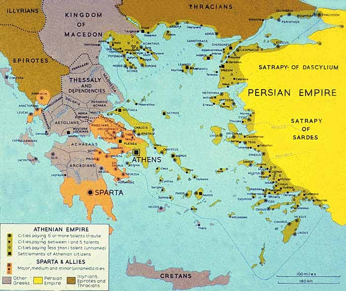 The Athenian Empire and Spartan Allies, 5th Century BC
