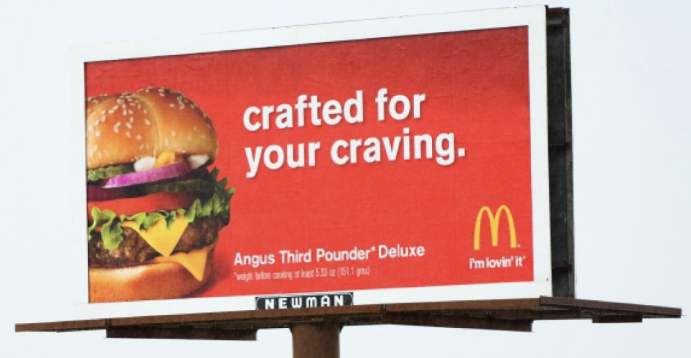 McDonald's advertising: Exploiting our cravings