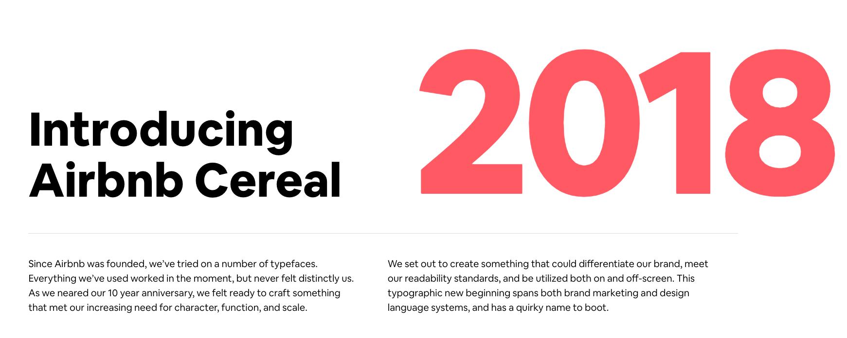 Airbnb Cereal, tipografia custom do Airbnb | Dalton Maag