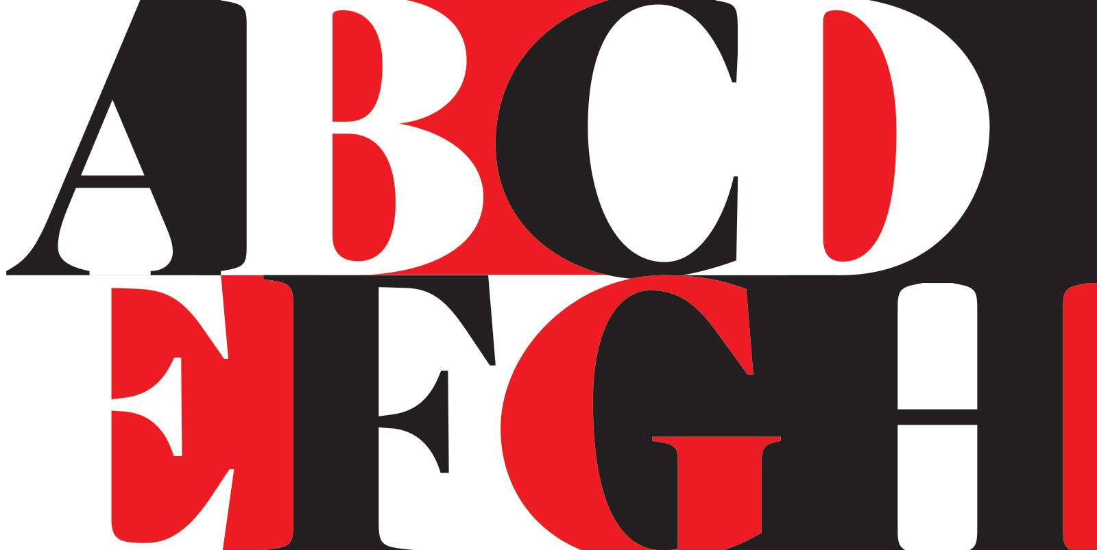A Reserva Serif é uma fonte de títulos com personalidade editorial