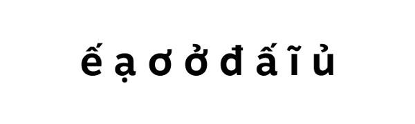Diacríticos vietnamitas na Motiva Sans