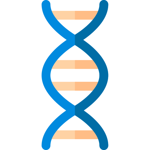 cartoon dna strand
