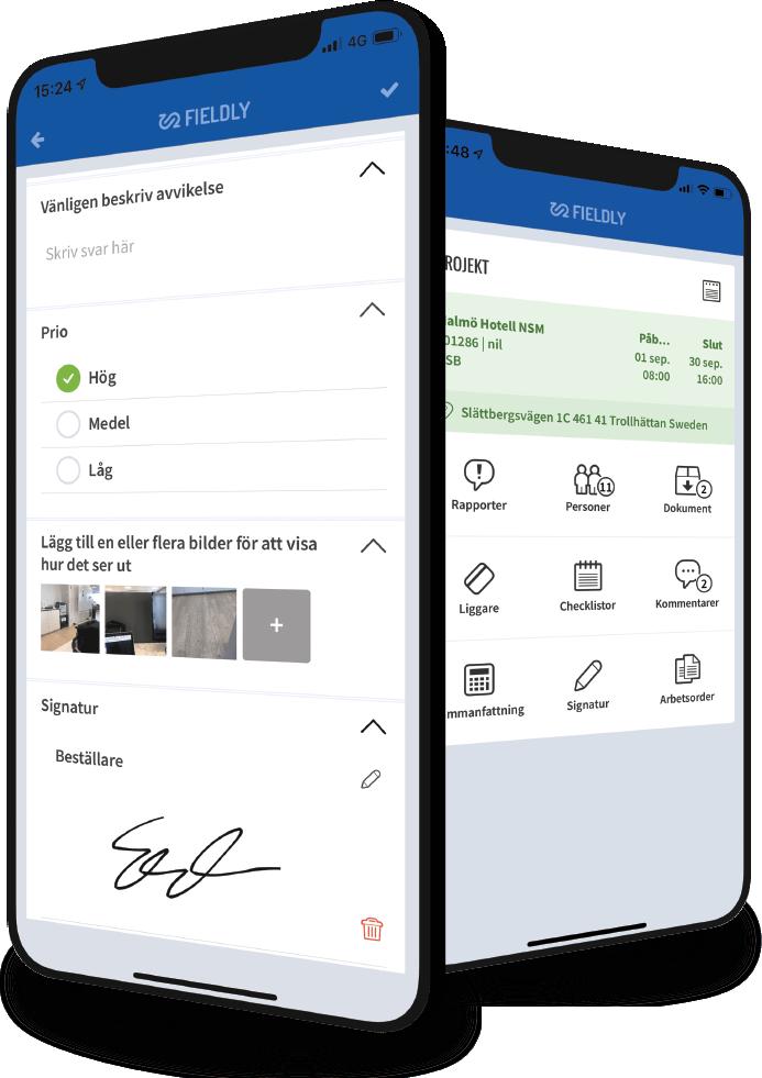 checklistor i Fieldlys app