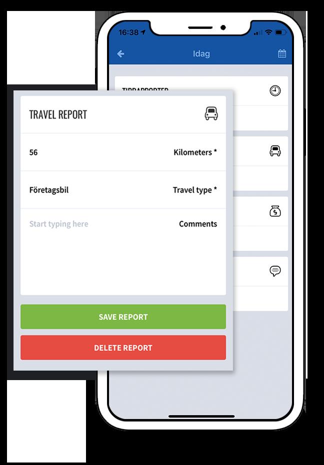 tidrapportering app