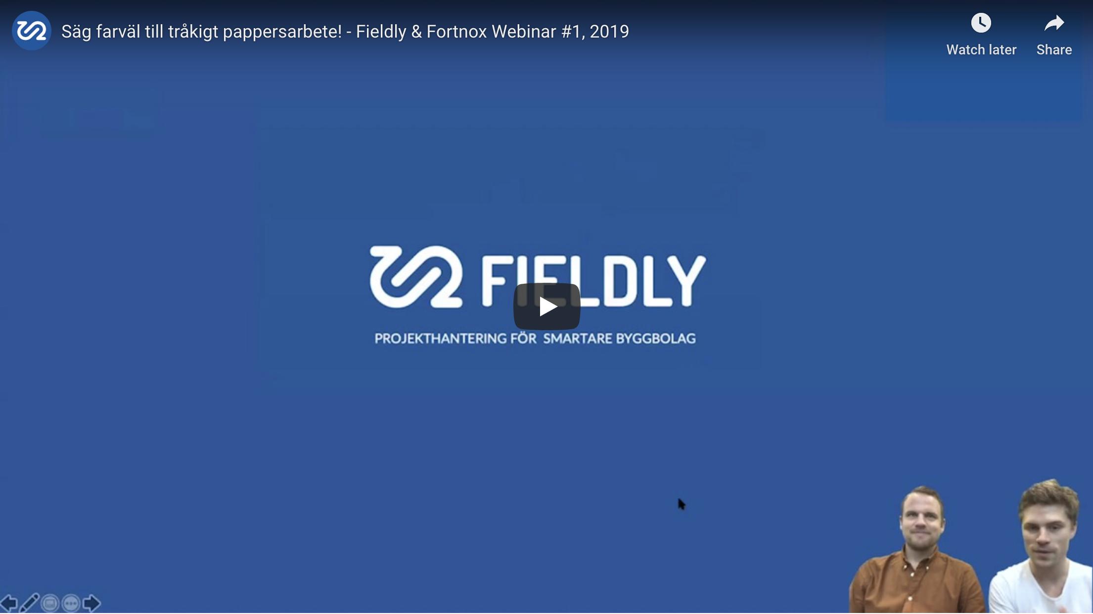 Fortnox och Fieldly webinar