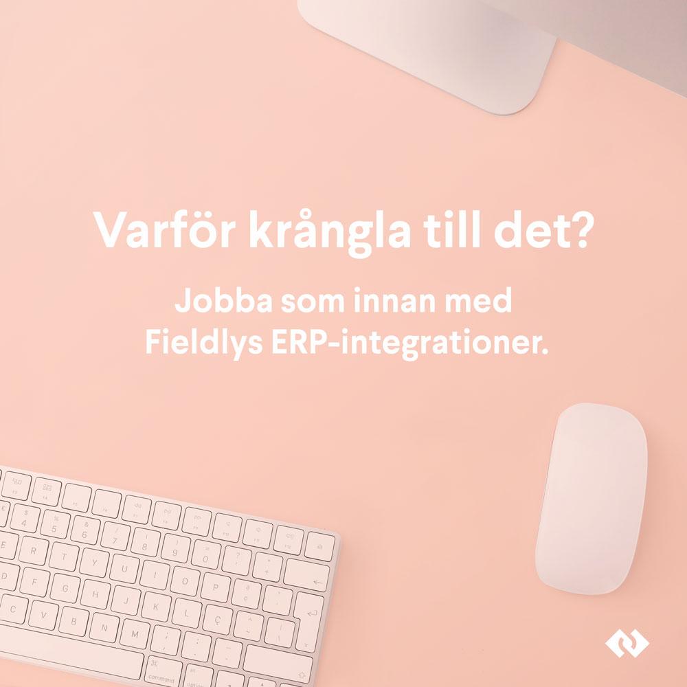 Varför krångla till det? Jobba som innan med Fieldlys ERP-integrationer.