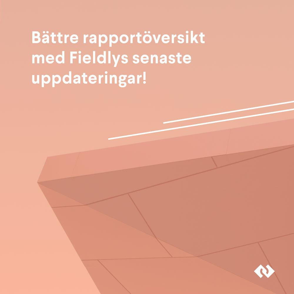 Nu ännu bättre rapportöversikt med Fieldlys senaste uppdateringar!