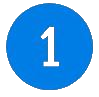Blue number 1 icon