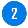 Blue number 2 icon