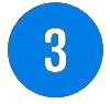 Blue number 3 icon