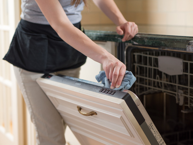 Cleaning inside of a dishwasher