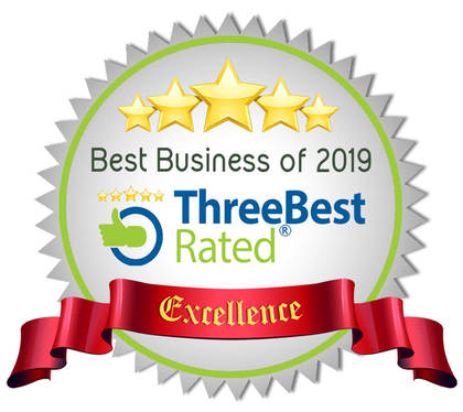 Three Best Rated Review Badge Award of Excellence