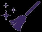 Purple broom icon