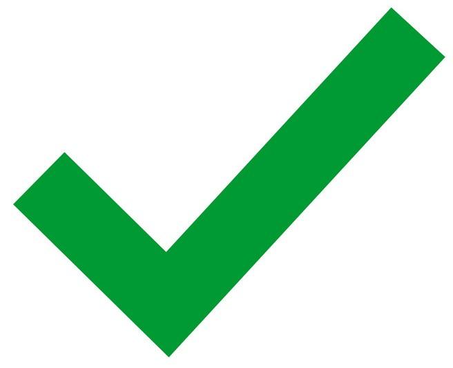 A green check mark