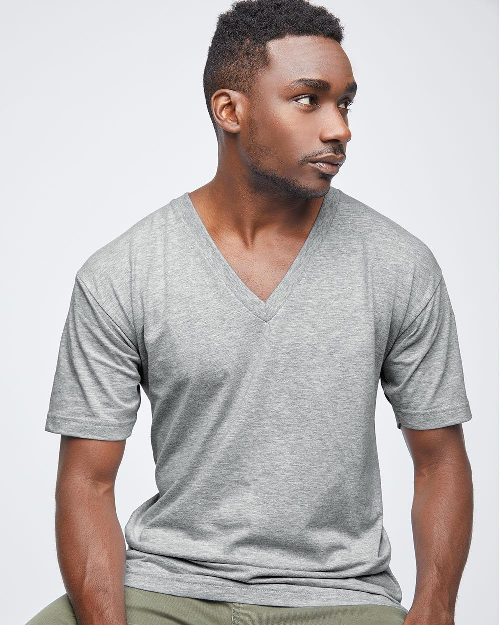 American Apparel 2456W - Fine Jersey V-Neck Tee