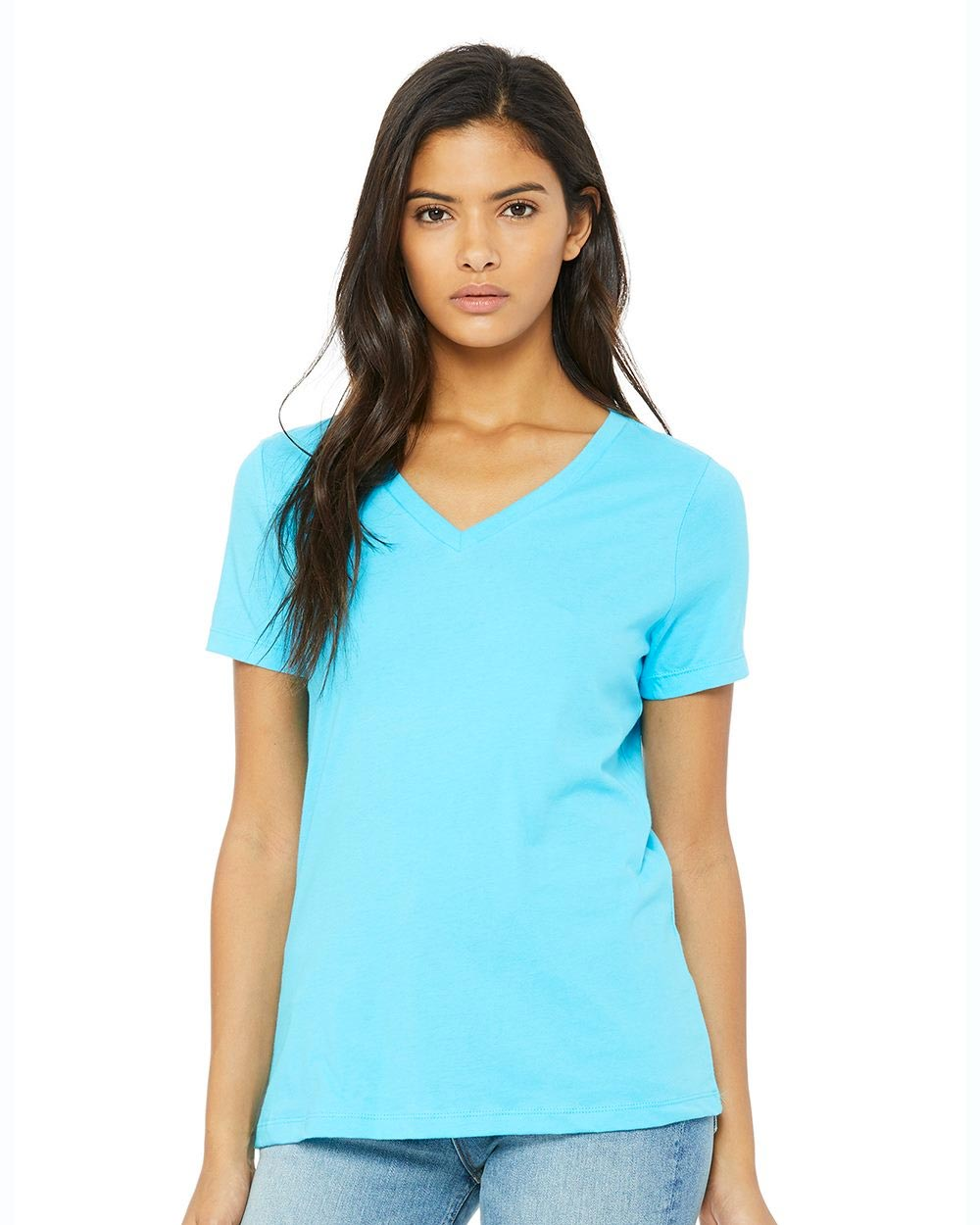 Bella + Canvas 6405 - Women's Relaxed Jersey V-Neck Tee