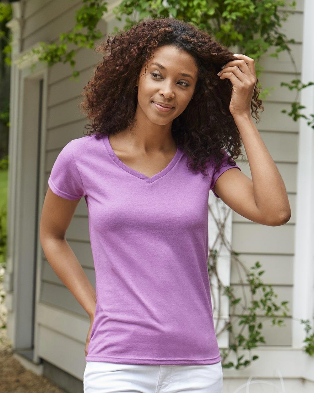 Gildan 5V00L - Heavy Cotton Women's V-Neck T-Shirt