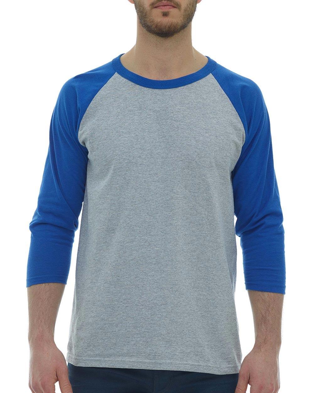 M&O Knits 5540 - Raglan 3/4 Sleeve Baseball T-Shirt