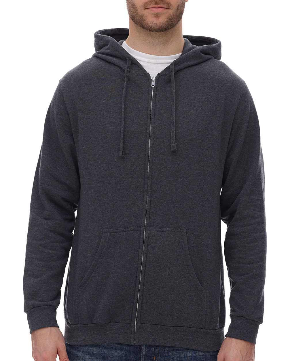 M&O Knits 3331 - Unisex Zipper Fleece Hoodie