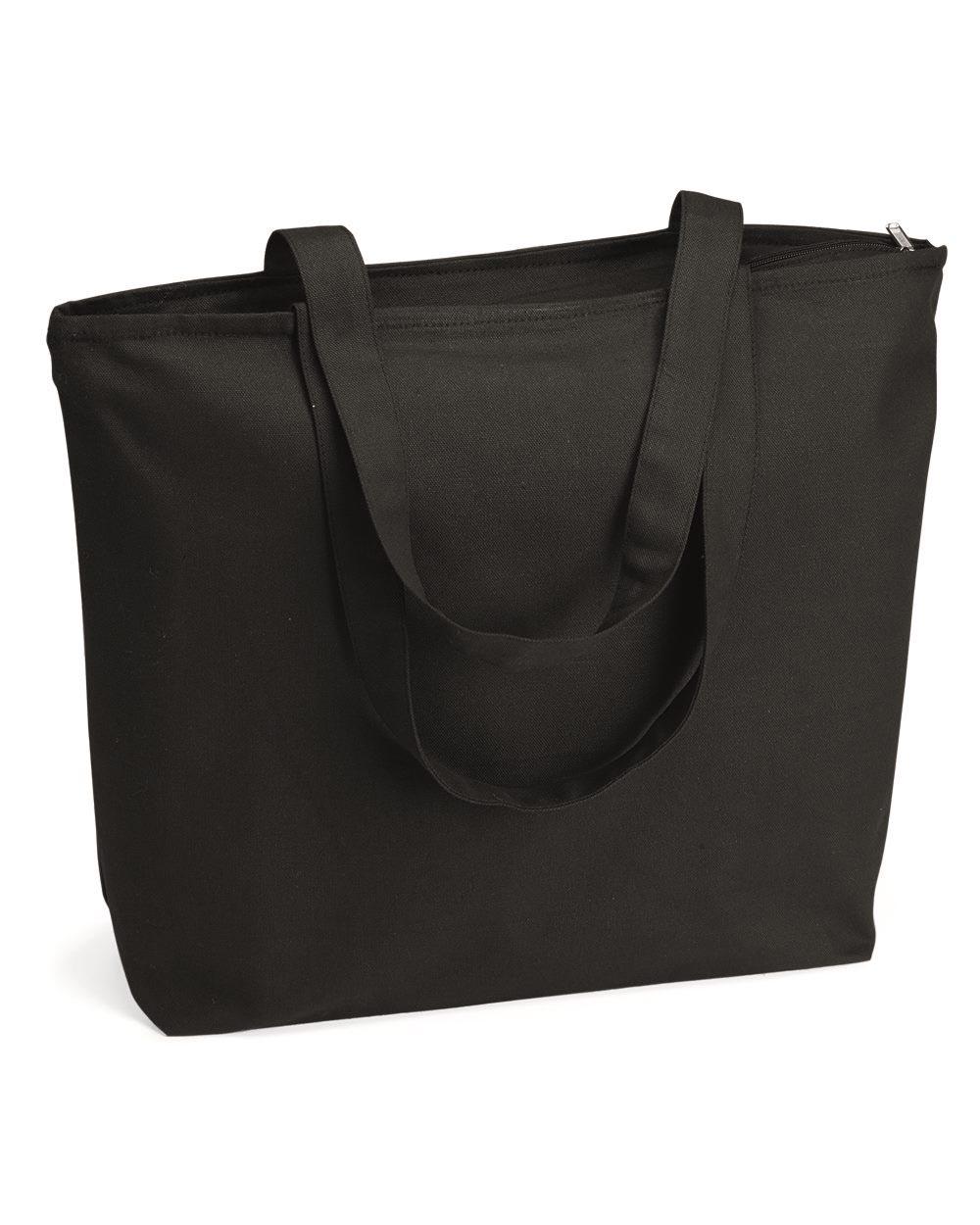 Q-Tees Q611 - 25L Zippered Tote Bag