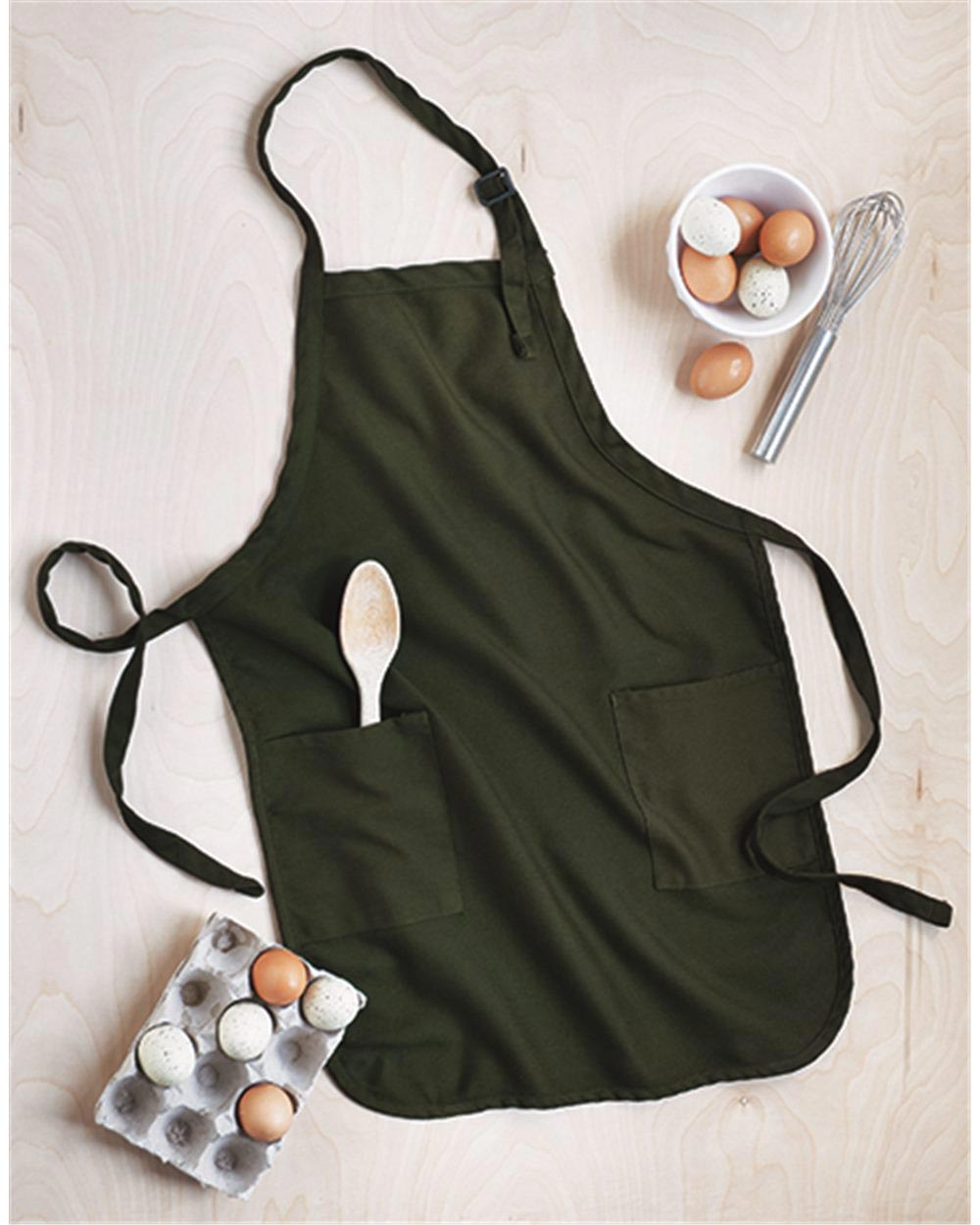 Q-Tees Q4350 - Full-Length Apron With Pockets