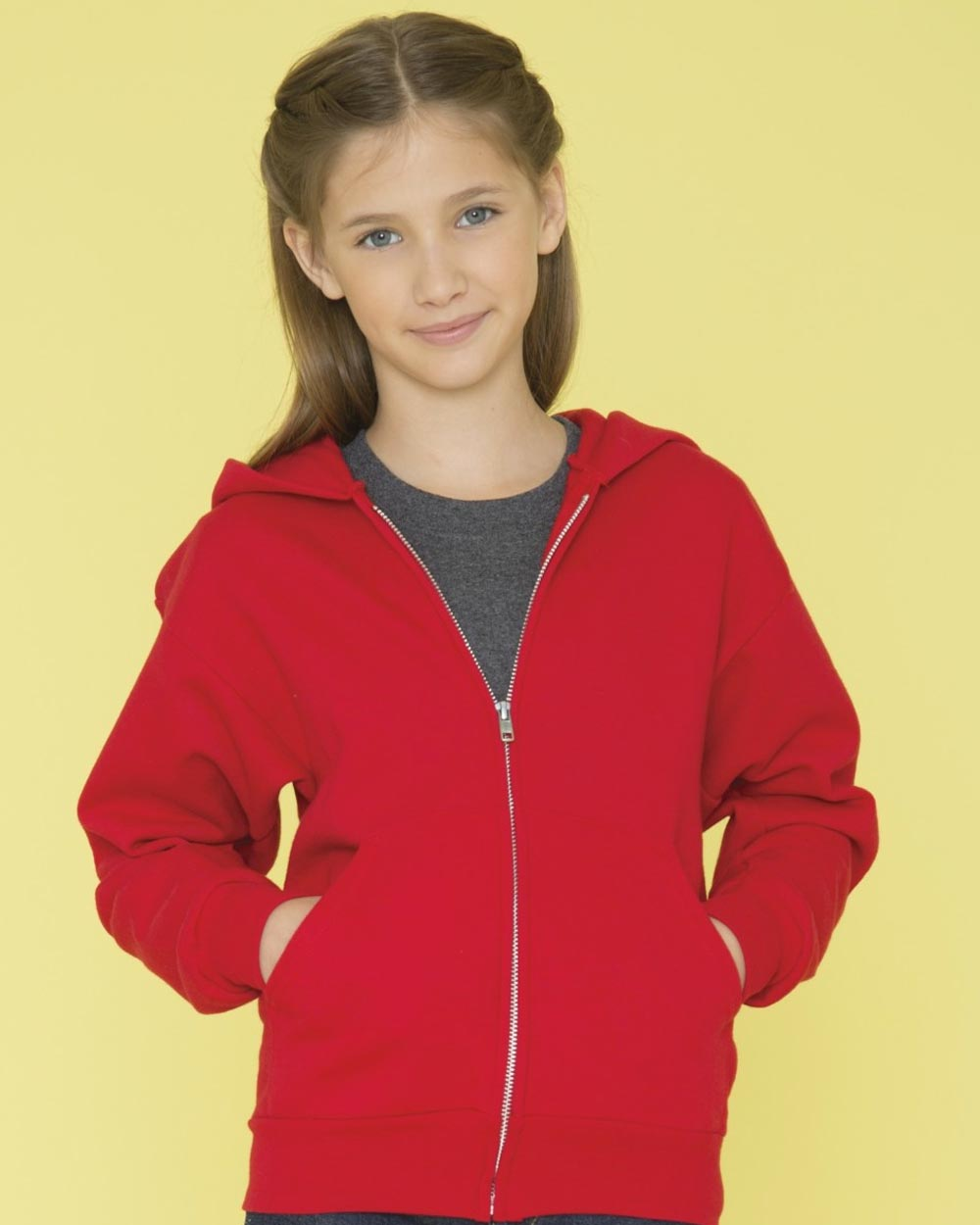 ATC Y2600 - Everyday Fleece Full-Zip Hooded Youth Sweatshirt