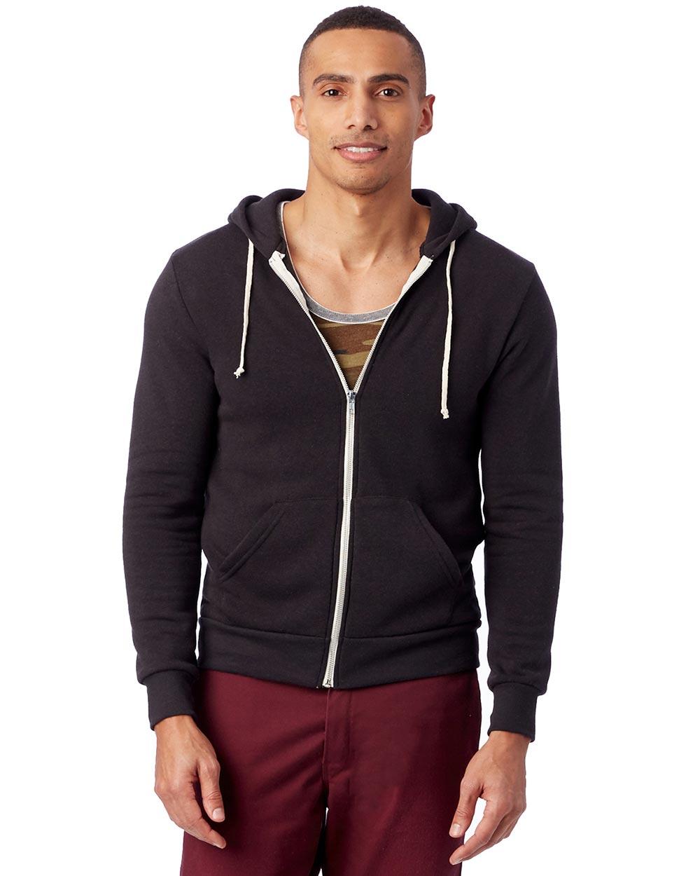 Alternative Apparel AA9590 - Men's Rocky Eco-Fleece Zip Hoodie