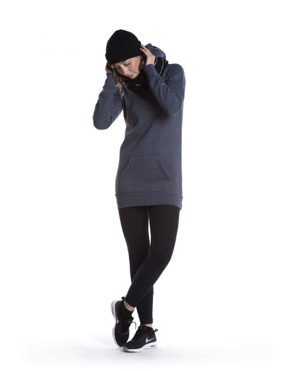 HS Apparel Women's Long Pullover Hooded Sweatshirt