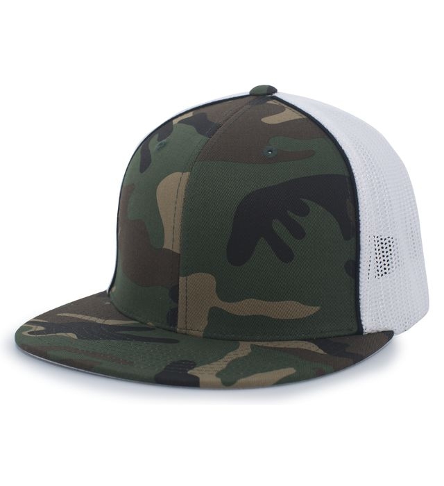 Pacific Headwear 8D8 - Camo Flexfit Trucker Cap