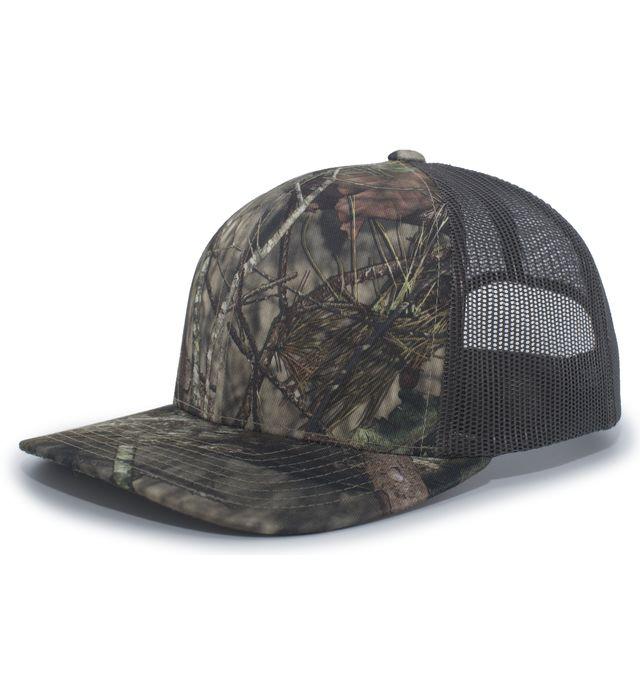Pacific Headwear 108C - Camo Trucker Snapback Cap