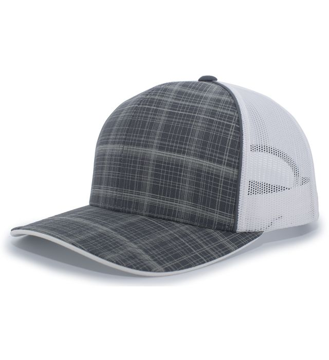 Pacific Headwear 111C - Crosshatch Trucker Snapback Cap