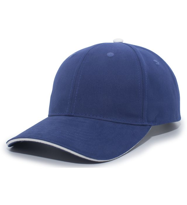 Pacific Headwear 121C - Brushed Twill Cap With Sandwich Bill