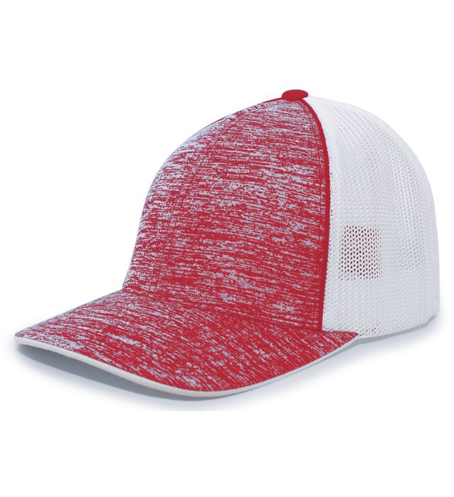 Pacific Headwear 406F - Aggressive Heather Flexfit Trucker Cap