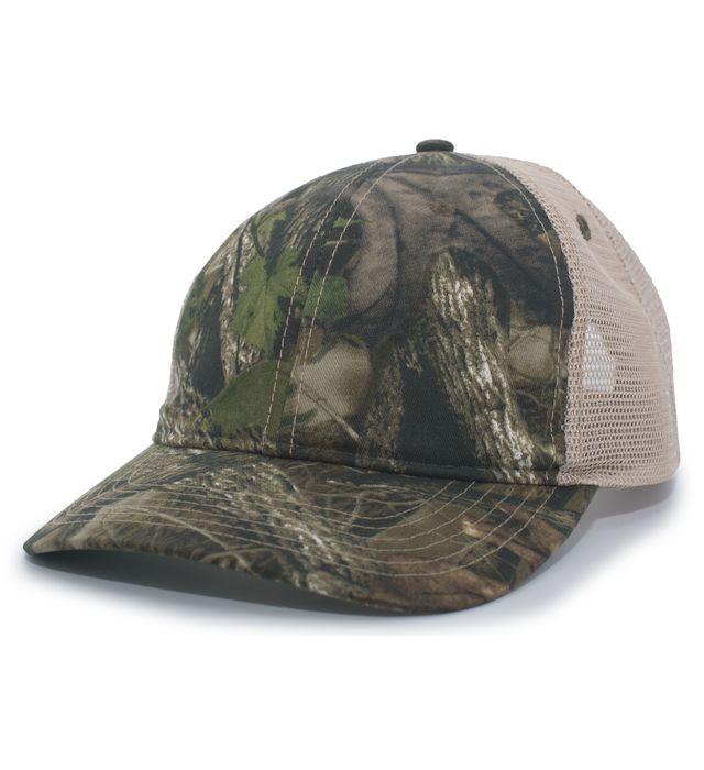 Pacific Headwear 637C - VINTAGE CAMO SOFT TRUCKER SNAPBACK CAP