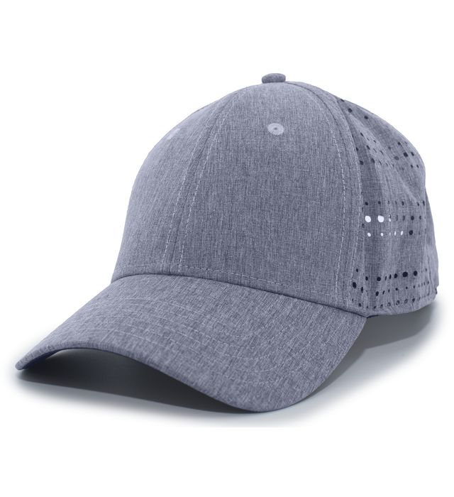 Pacific Headwear P747 - Perforated Hook-And-Loop Adjustable Cap