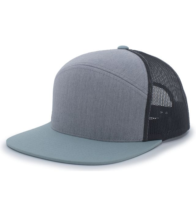Pacific Headwear P787 - 6-Panel Arch Trucker Snapback Hat