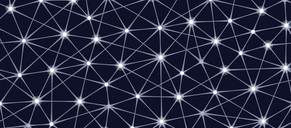 Olo Acupucnture's Balance Posts Image of a blue patterned with linking elements.