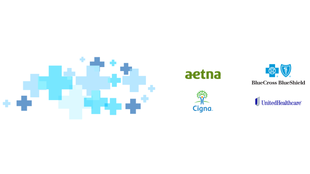 Olo Acupuncture's health insurance banner with logos of various insurance companies such as Blue Cross Blue Shield, Aetna, Cigna, and United Healthcare.