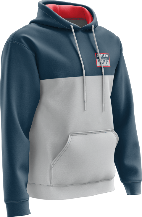 Hooded sweatshirt with graphic on chest