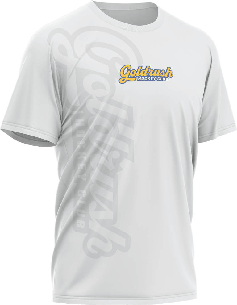 Goldrush Hockey team t-shirt with large graphic and logo