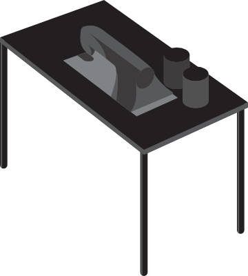 Illustration depicting a sewing machine