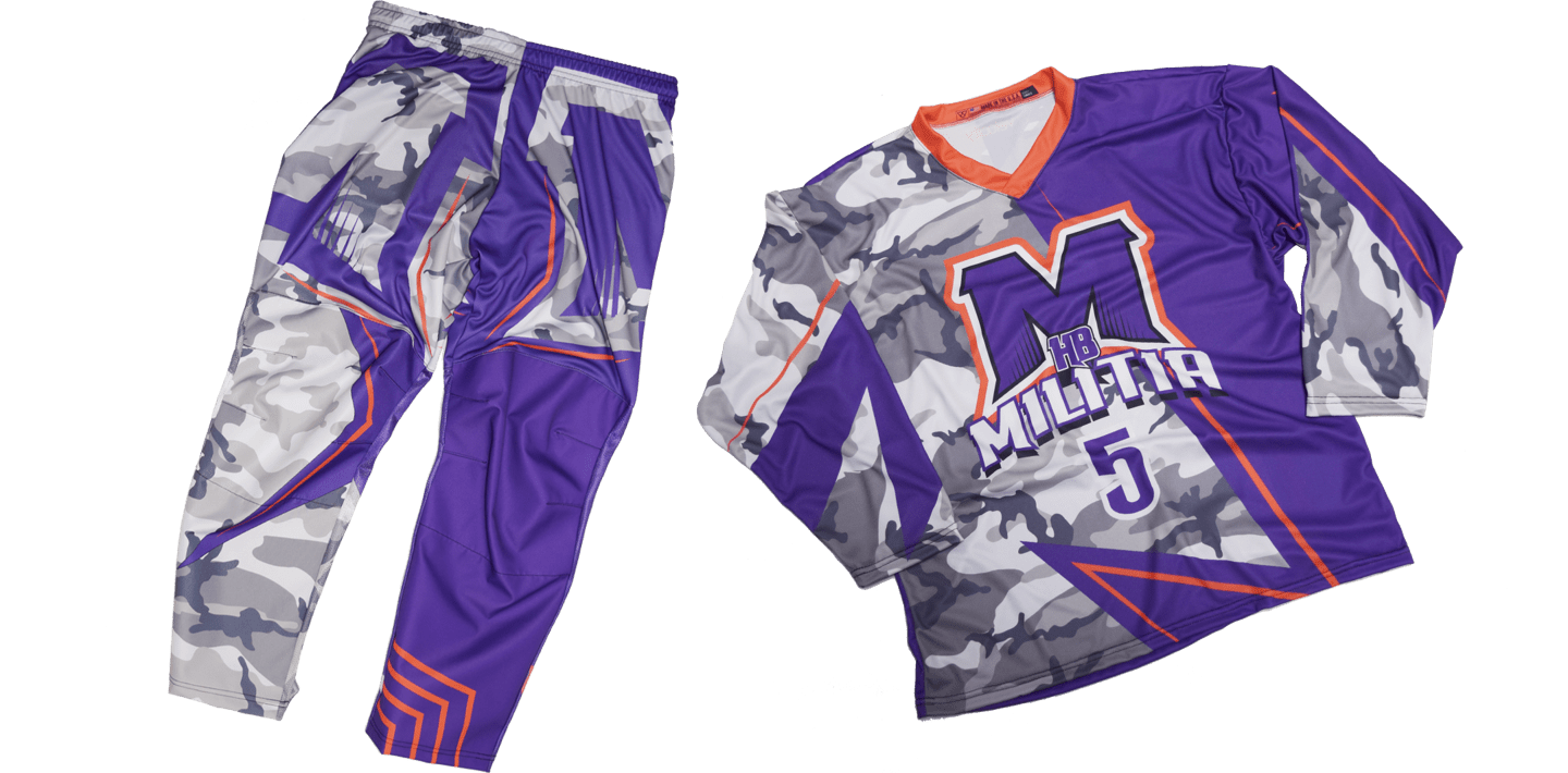 Roller hockey jersey and pants