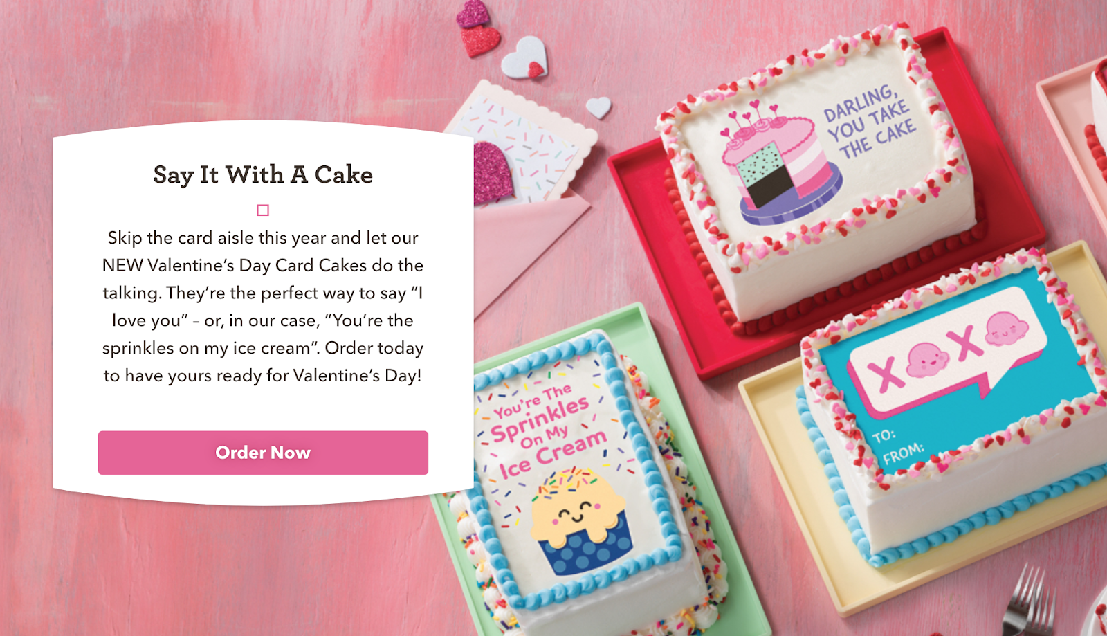 Baskin Robbins Valentine Cake