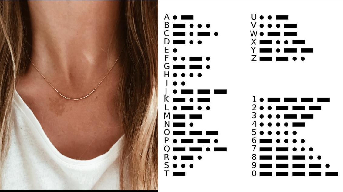摩斯密码项链